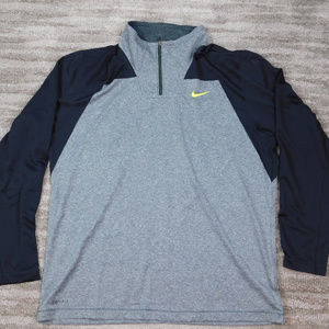 Nike Men's Half Zip Pullover Dri Fit Running Shirt